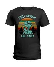 Two Word One Finger Ladies T-Shirt tile