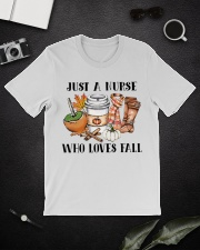Just a Nurse who loves fall shirt Classic T-Shirt lifestyle-mens-crewneck-front-16