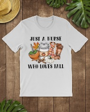 Just a Nurse who loves fall shirt Classic T-Shirt lifestyle-mens-crewneck-front-18