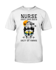 Nurse Sassy Since Birth Salty By Choice Moon Shirt Classic T-Shirt front