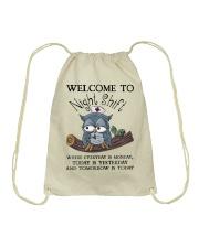 Owl Nurse welcome to night shift Drawstring Bag thumbnail