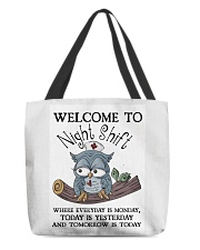 Owl Nurse welcome to night shift All-over Tote thumbnail