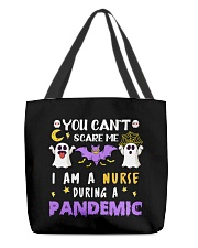 Halloween  You Can't scare me I am a Nurse T Shirt All-over Tote thumbnail