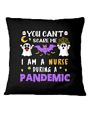 Halloween  You Can't scare me I am a Nurse T Shirt Square Pillowcase thumbnail