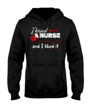 Lips I kissed a nurse and I liked it shirt Hooded Sweatshirt thumbnail