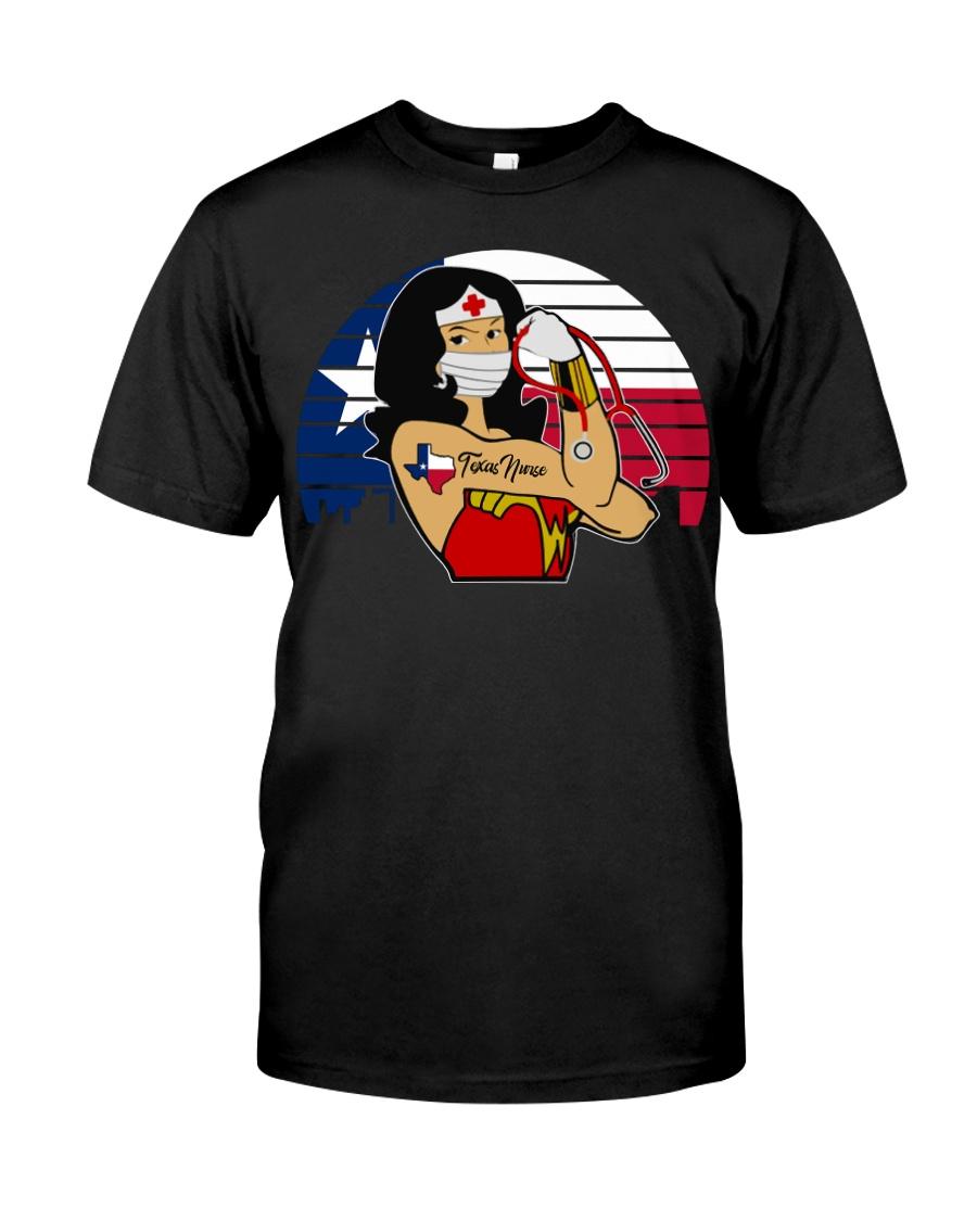 Nice Vintage Wonder Woman Texas Nurse Classic T-Shirt