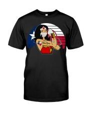 Nice Vintage Wonder Woman Texas Nurse Classic T-Shirt front