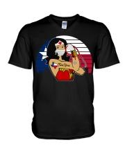 Nice Vintage Wonder Woman Texas Nurse V-Neck T-Shirt thumbnail