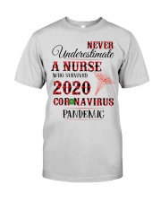 Never Underestimate A Nurse Who Survived 2020  Premium Fit Mens Tee thumbnail
