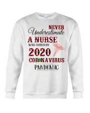 Never Underestimate A Nurse Who Survived 2020  Crewneck Sweatshirt thumbnail