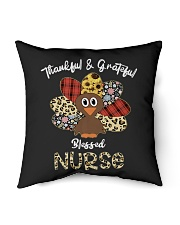 """Thankful And Grateful Blessed Nurse Indoor Pillow - 18"""" x 18"""" thumbnail"""