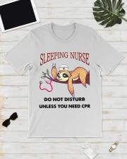 Sloth Sleeping Nurse Classic T-Shirt lifestyle-mens-crewneck-front-17