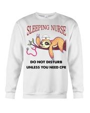 Sloth Sleeping Nurse Crewneck Sweatshirt thumbnail