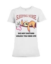 Sloth Sleeping Nurse Premium Fit Ladies Tee thumbnail
