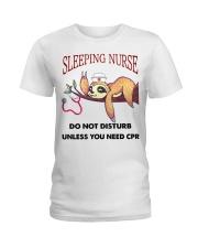 Sloth Sleeping Nurse Ladies T-Shirt thumbnail