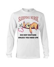 Sloth Sleeping Nurse Long Sleeve Tee thumbnail