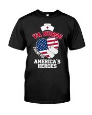 Veteran VA Nurse Caring For America's Heroes Shirt Classic T-Shirt front