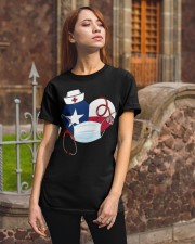 Texas Heart Stand Up With Texas's Nurses Classic T-Shirt apparel-classic-tshirt-lifestyle-06