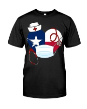 Texas Heart Stand Up With Texas's Nurses Premium Fit Mens Tee thumbnail