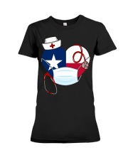 Texas Heart Stand Up With Texas's Nurses Premium Fit Ladies Tee thumbnail