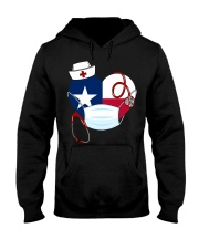Texas Heart Stand Up With Texas's Nurses Hooded Sweatshirt thumbnail