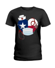 Texas Heart Stand Up With Texas's Nurses Ladies T-Shirt thumbnail