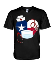 Texas Heart Stand Up With Texas's Nurses V-Neck T-Shirt thumbnail