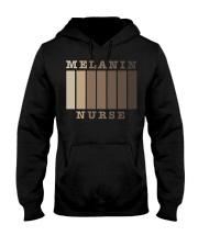 Melanin Nurse Shirt Hooded Sweatshirt thumbnail