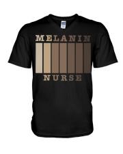 Melanin Nurse Shirt V-Neck T-Shirt thumbnail