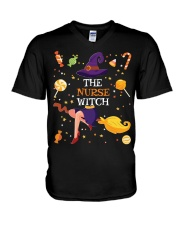 Halloween The Nurse Witch T Shirt V-Neck T-Shirt thumbnail
