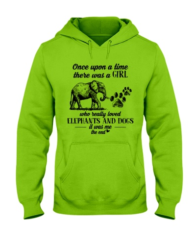 A Girl loved dogs and elephants