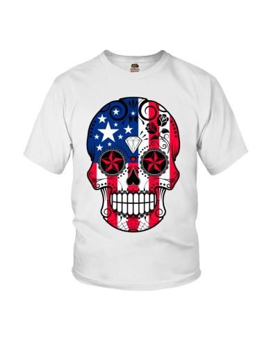 American Flag Sugar Skull