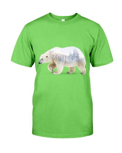 Double exposure Polar Bear
