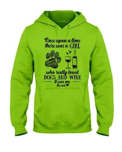 A Girl loved dogs and wine