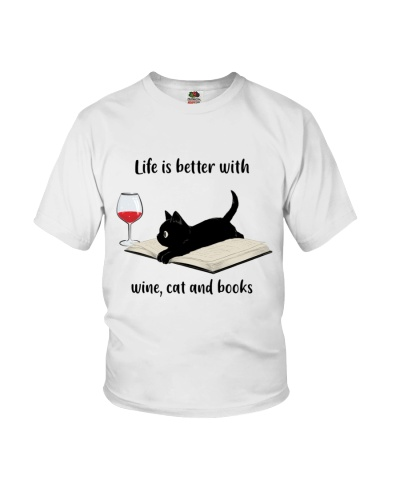 Life is better with wine cats books