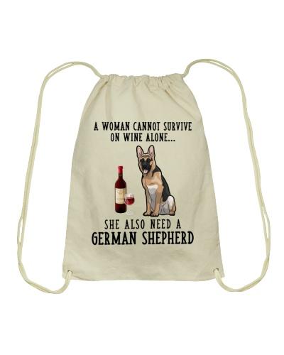 A Woman Need A German Shepherd And Wine