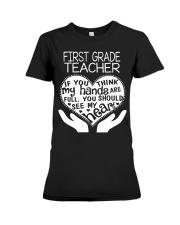 TEE SHIRT FIRST GRADE TEACHER Premium Fit Ladies Tee thumbnail