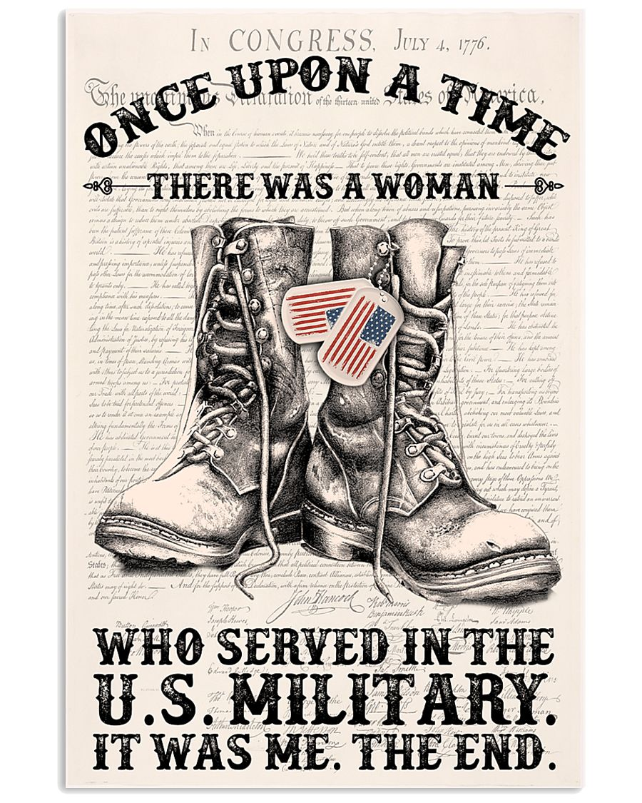 SHE SERVED IN THE US MILITARY 11x17 Poster