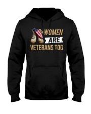 WOMEN ARE VETS TOO Hooded Sweatshirt front