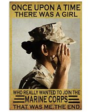 THE GIRL JOINED THE USMC  11x17 Poster front
