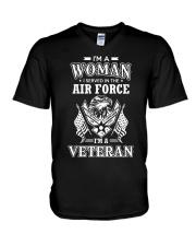 I AM AN AIR FORCE VETERAN V-Neck T-Shirt thumbnail