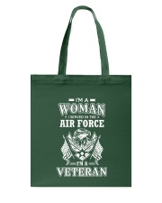 I AM AN AIR FORCE VETERAN Tote Bag thumbnail