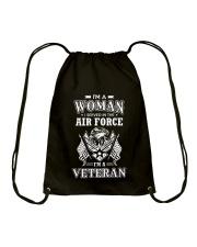 I AM AN AIR FORCE VETERAN Drawstring Bag thumbnail