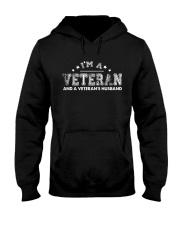 PROUD VETERAN AND VETERANS HUSBAND Hooded Sweatshirt thumbnail