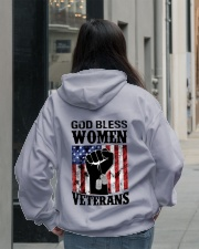 GOD BLESS WOMEN VETERANS Hooded Sweatshirt lifestyle-unisex-hoodie-back-2
