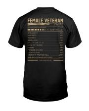 FEMALE VETERAN FACTS BACK Classic T-Shirt back