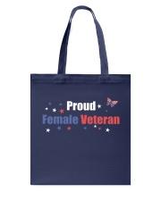 PROUD FEMALE VETERAN Tote Bag thumbnail