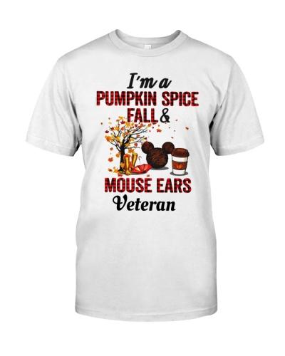 PUMPKIN SPICE FALL MOUSE EARS VETERAN