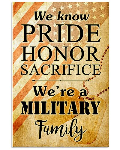 WE ARE A MILITARY FAMILY