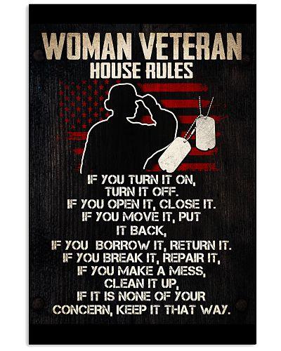 WOMAN VETERAN'S HOUSE RULES